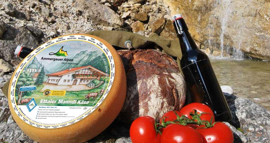 Der Ettaler Manndl Käse, der ideale kulinarische Begleiter auf Berg- und Wandertouren