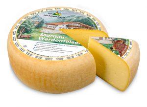 Neu: Der Murnau-Werdenfelser. Schnittkäse aus der Milch ausschließlich von Murnau-Werdenfelser Kühen.